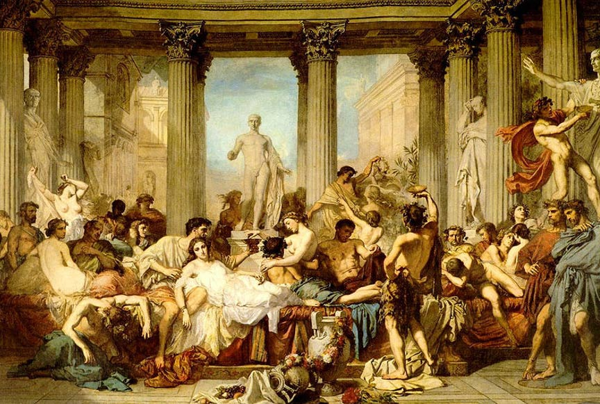 The Romans of the Decadence (1847) by Thomas Couture.
