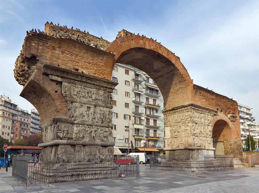 The Arch and Rotunda, Remains of a Vast Palace Complex Built by Galerius