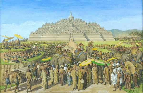 Ancient Sailendra dynasty in Java - Reconstructing the scene of Borobudur