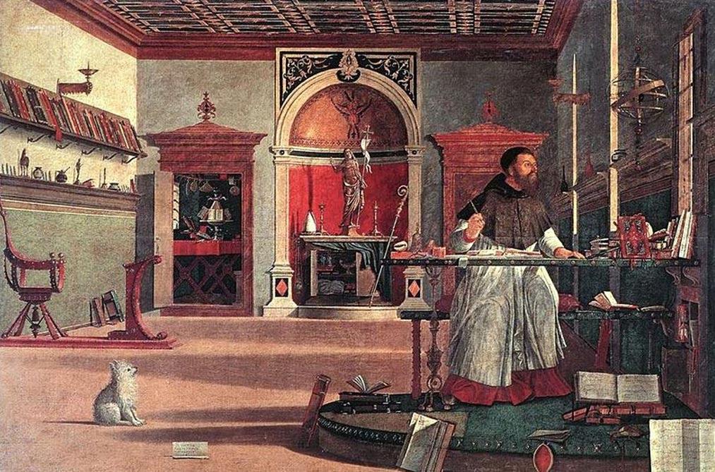 'Visione di sant' agostino' (vision of Saint Augustine) (1502) by Vittore Carpaccio.