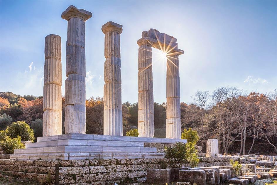 Temple at Samothrace, Greece         Source: Evgeni Dinev / Adobe Stock