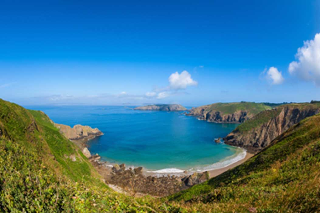 Remote beach and rocky coastline on Sark Island. Source: allard1 / Adobe Stock.