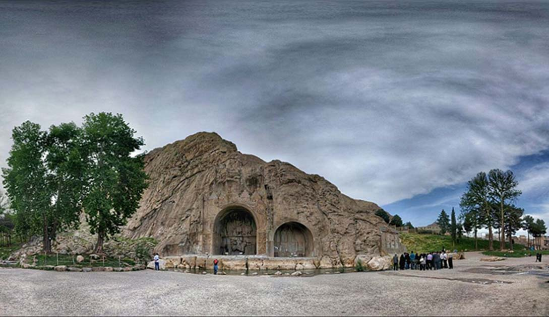 Taq-e Bostan, famous rock relief monument of Sassanid Persia