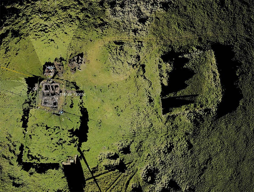 Aerial photo of the Scottish ghost village of Broo, in the Shetland Islands, that mysteriously came back to life. Source: UNAVCO