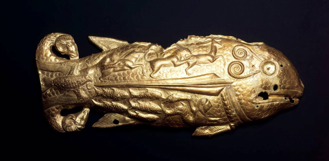 Scythian Golden Fish from the Treasure of Vettersfelde circa 500 B.C.