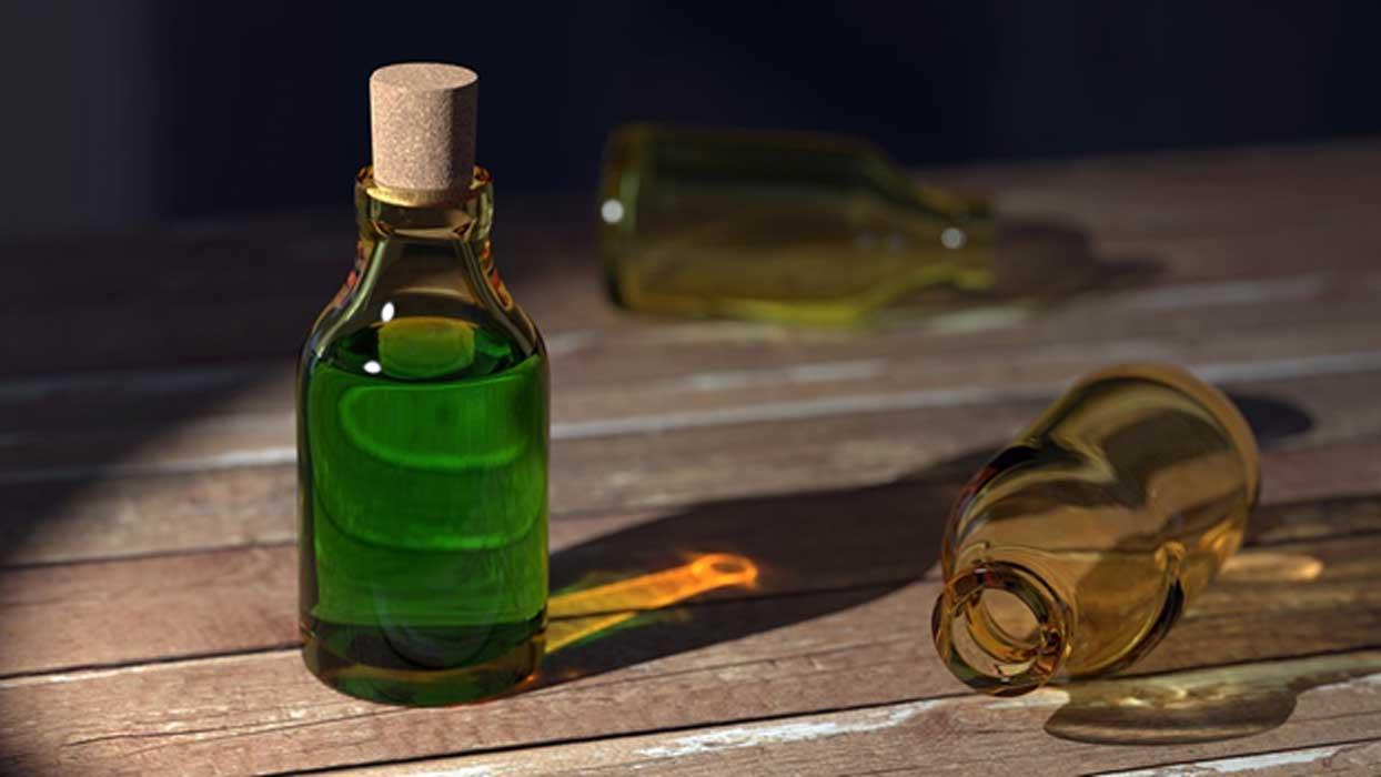 A bottle of an elixir.