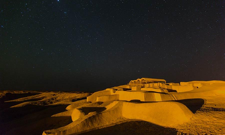 """Ruins of Shahr-i Sokhta, the """"Burnt City,"""" in Iran."""