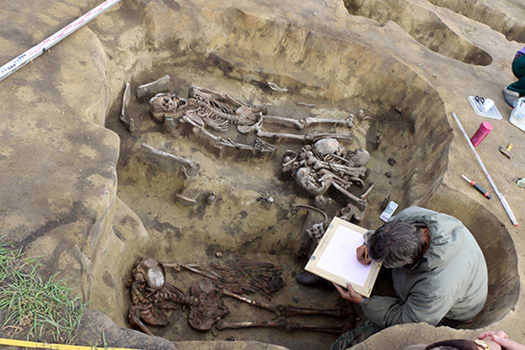 The Odinov culture shamans graves that have been found in Western Russia. Source: Image: Institute of Archeology and Ethnography, The Siberian Times