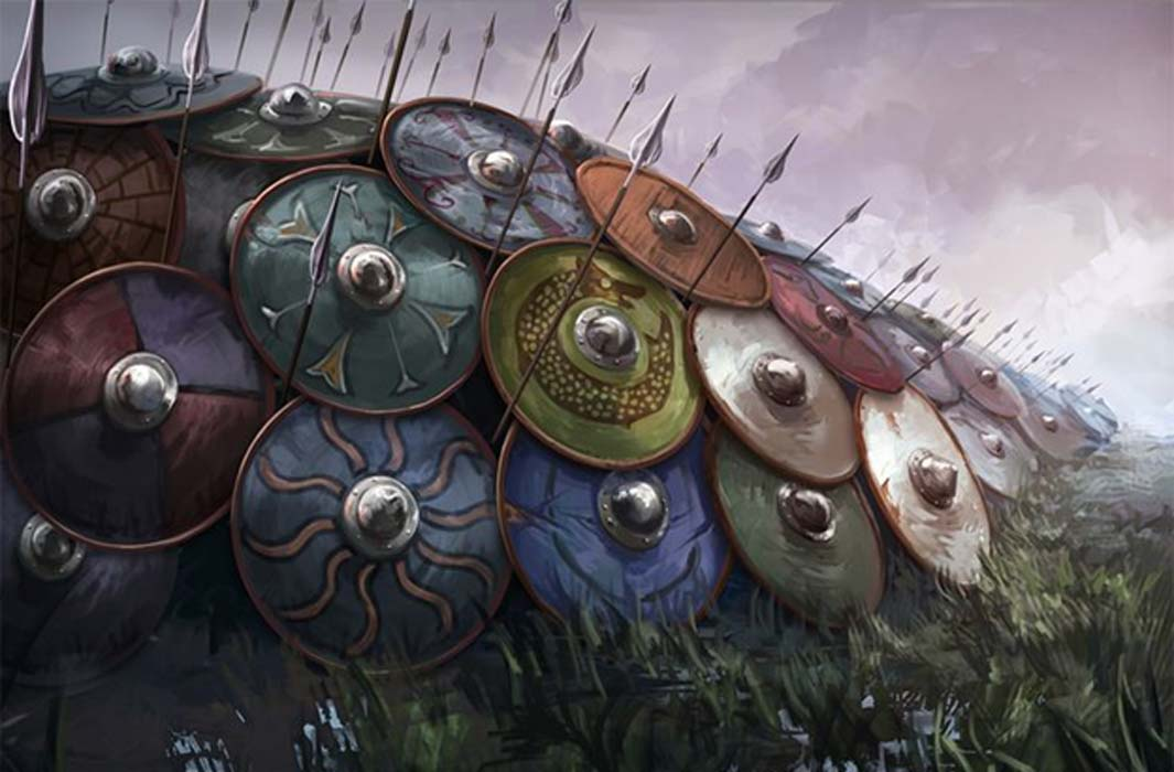 Image of Viking Shieldwall and Viking Spears Viking spear