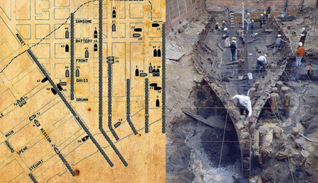 The Ghost Ships of San Francisco: Dozens of Wrecks Buried Beneath City Streets