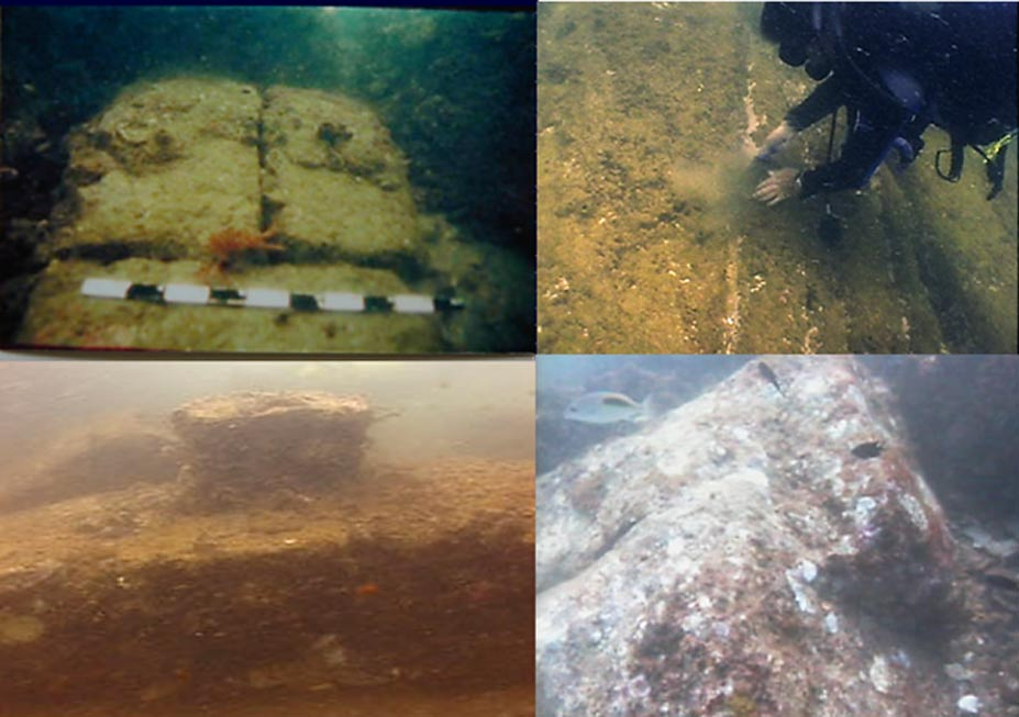 Some of the underwater features discovered off of Mahabalipuram.