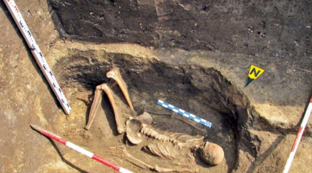 Skeleton of a giant found in Romania.