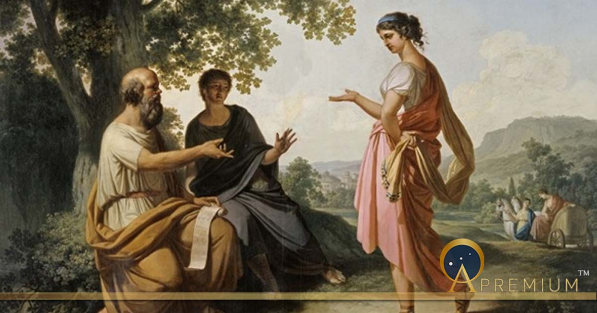 Socrates in conversation with Diotima by Franz Caucig  (1755–1828)