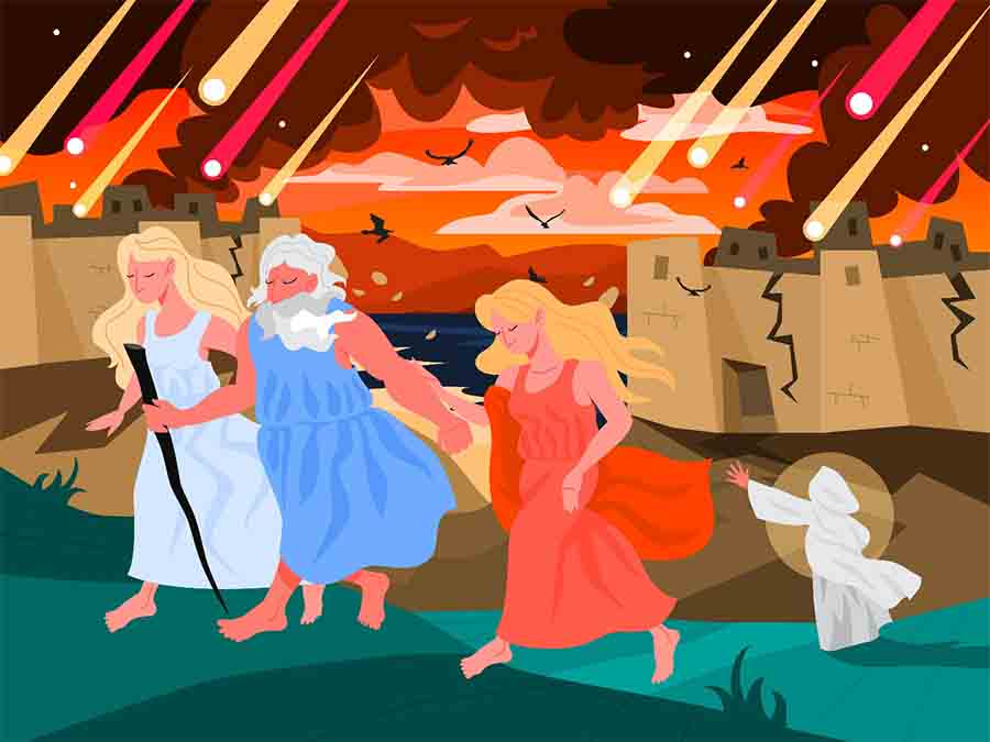 Bible narratives about Sodom and Gomorrah. Christian bible character. By artinspiring / Adobe Stock