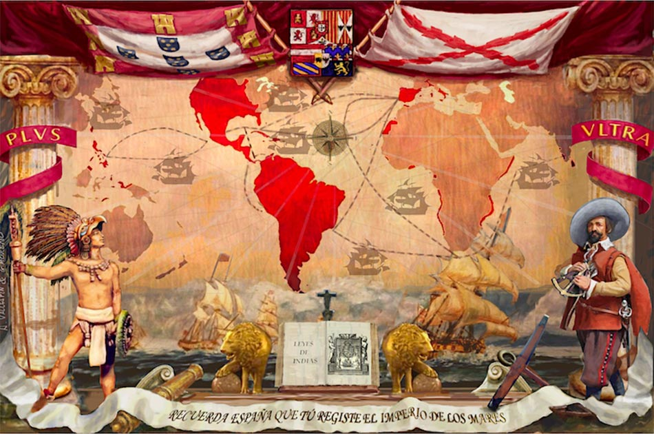 The Spanish Empire and the New World. Source: CanBea87 / CC BY-SA 4.0.