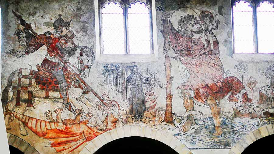 Medieval Mural on Yorkshire Church Wall Pays Tribute to St. George