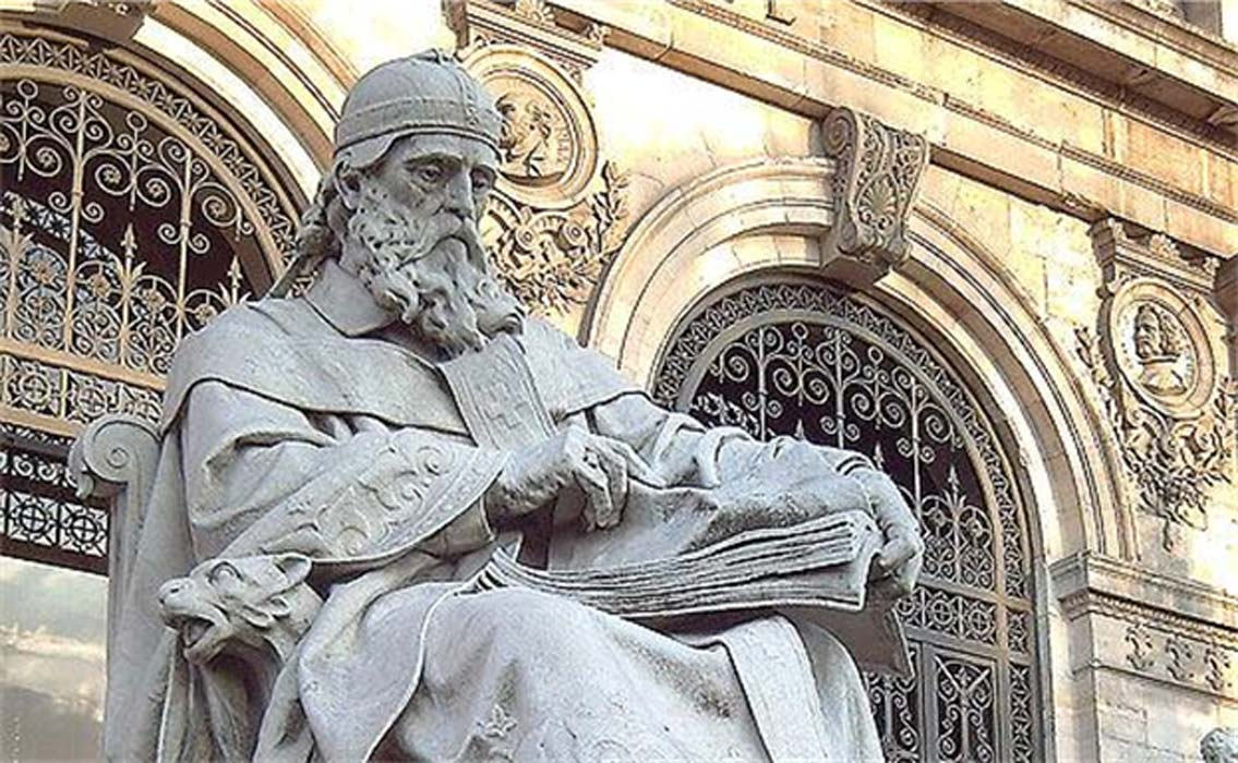 Statue of Saint Isidore of Seville.