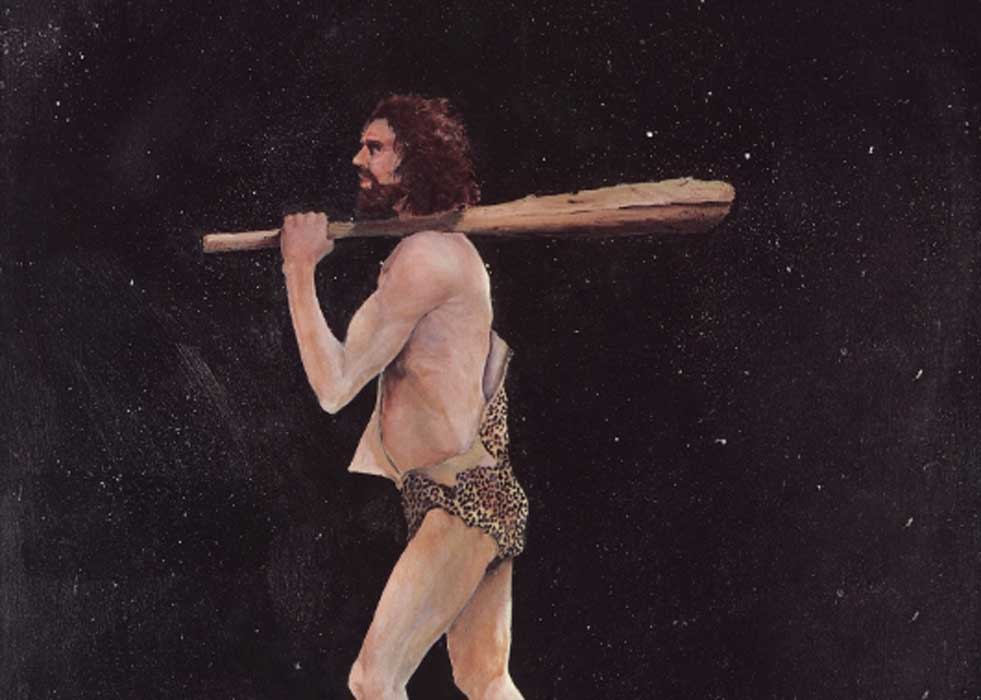 A painting of Stone Age Man
