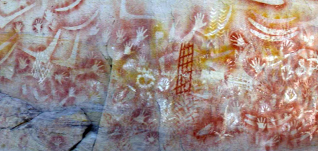 Aboriginal rock paintings that show astronomical alignments