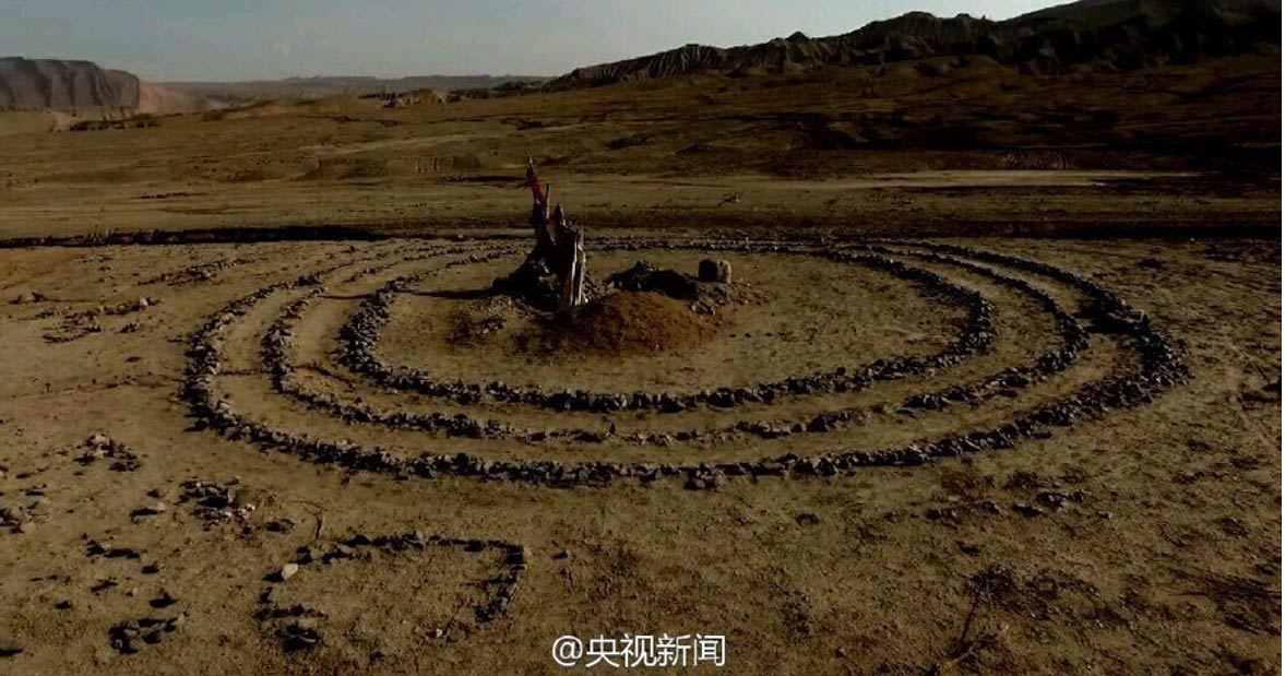A mysterious ancient stone circle formation of the Turpan Basin, northwestern China
