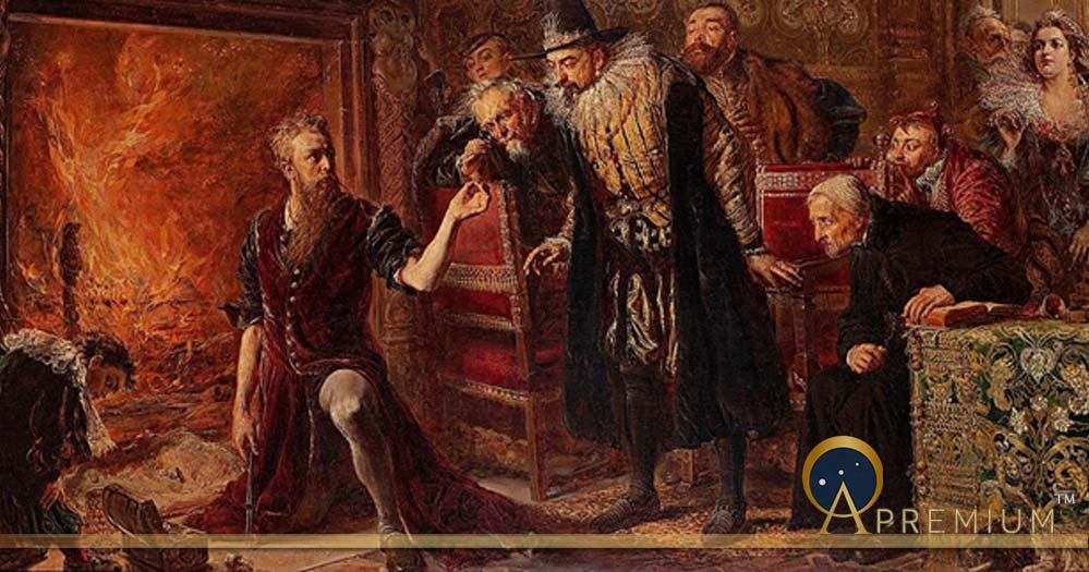 Alchemist Sendivogius (1566–1636) by Jan Matejko, (1867)