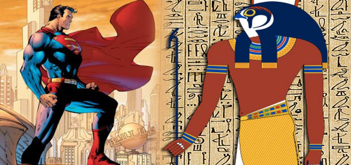 Sun God Horus and Superman