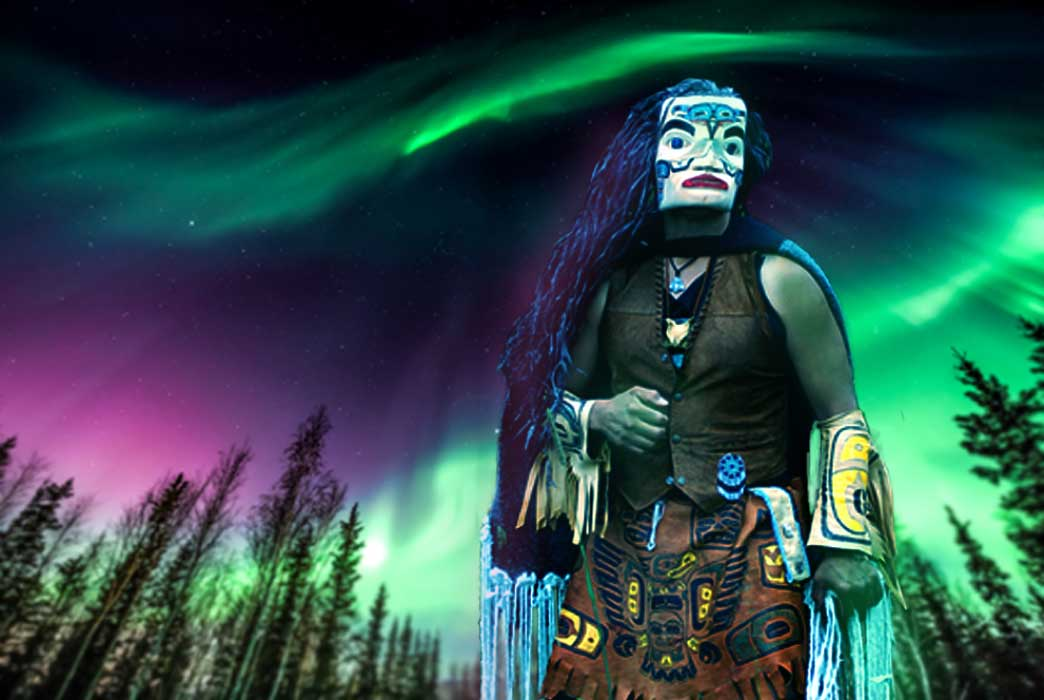 Tlingit Indian by Cenk Unver (Fotolia) and Alaskan background (Fotolia)