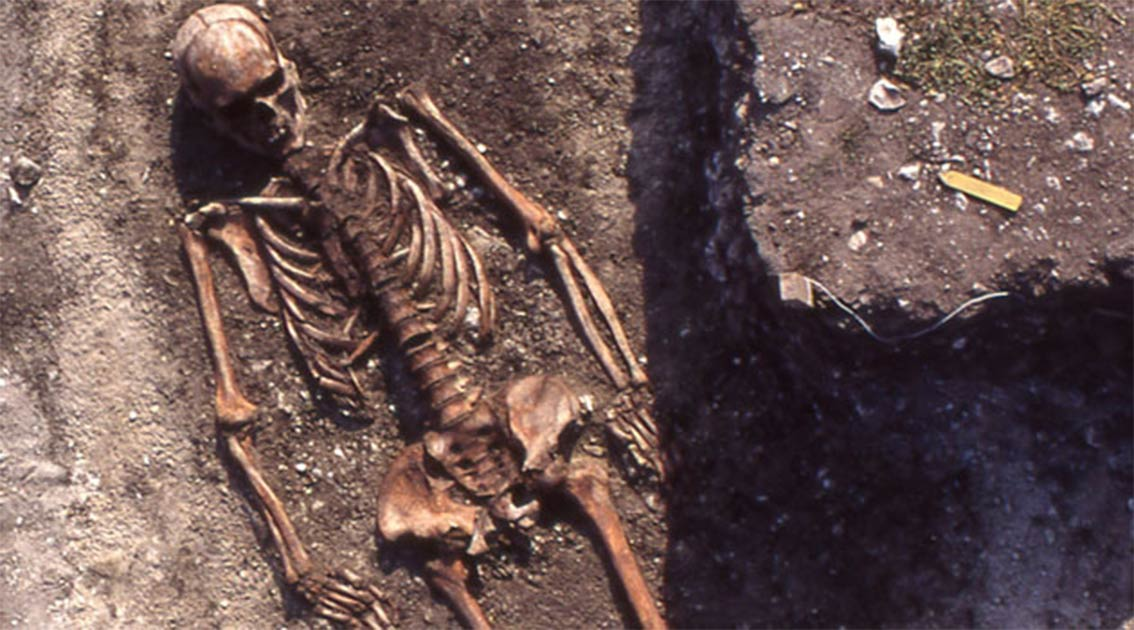 A man of the Pitted Ware Culture in the tomb field of Ajvide in Gotland represents a typical burial. Source: Åsa Malmberg, (Uppsala University)