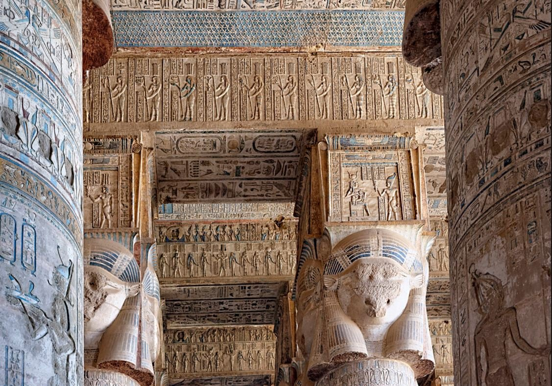 The Magnificent Temple of Hathor Goddess of Love Best Preserved