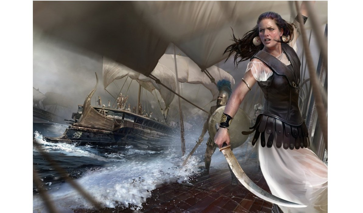 Artist's impression of Teuta, Queen of the Illyrian Ardiaei tribe