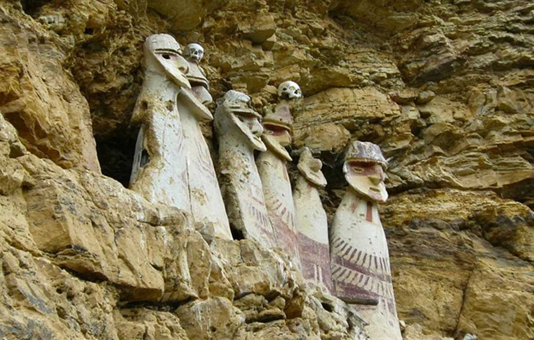 The sarcophagi of Carajia, emblematic of the lost Chachapoya culture. Source: BigStockPhoto