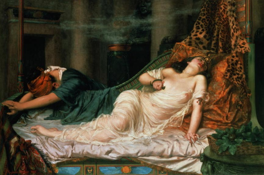 The Death of Cleopatra by Reginald Arthur, 1892.
