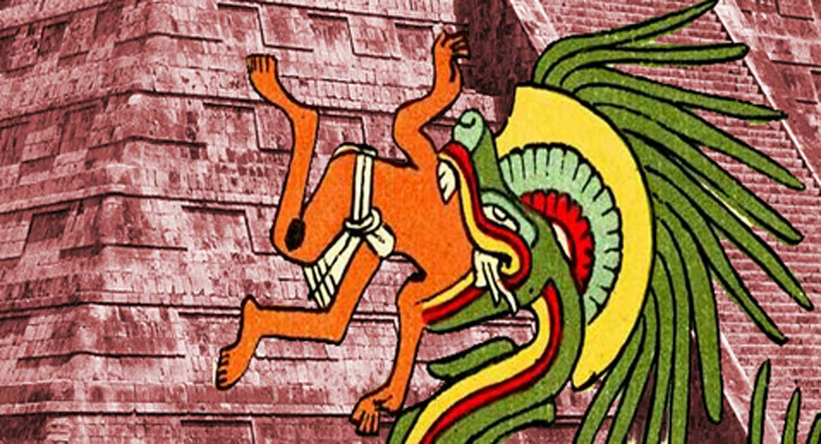 Quetzalcoatl – Public Domain, and El Castillo at Chichén Itzá – CC BY-SA 4.0
