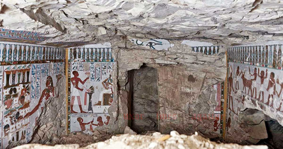 An 18th dynasty tomb unearthed in Qurna