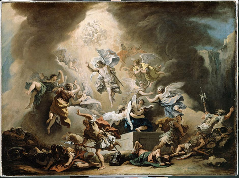 The Resurrection. (c. 1715-1716) By S. Ricci.