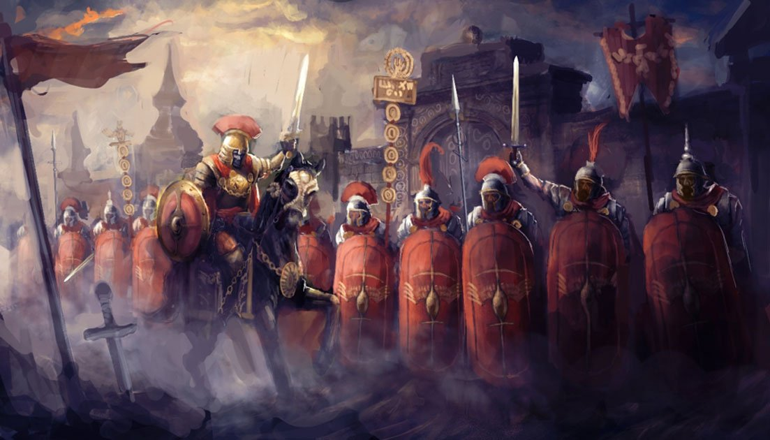 Roman soldiers and their general (vukkostic / Adobe Stock)
