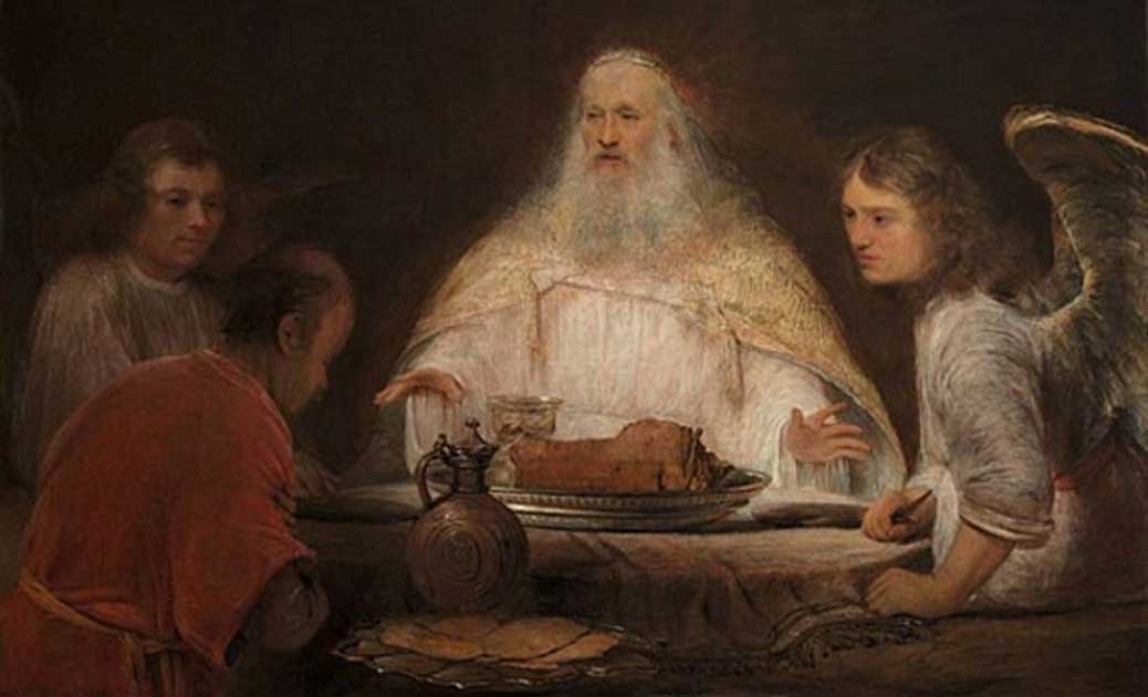 'Abraham and the Angels' by Aert de Gelder