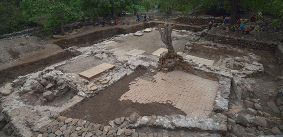 The excavation site