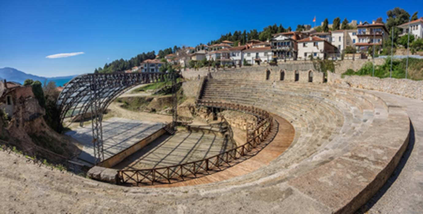 Ancient roman theater in Ohrid in Macedonia           Source: Frankix / Adobe Stock