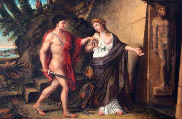 Theseus and Ariadne at the Entrance of the Labyrinth