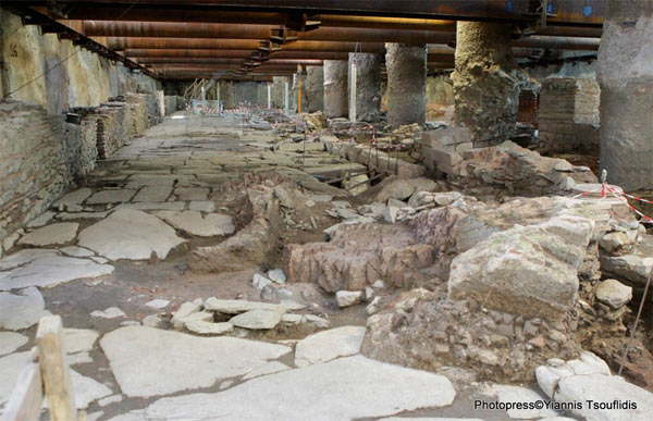 Greeks rally to save ancient road on subway site