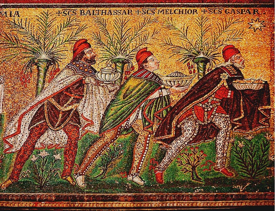 A Byzantine Depiction Of The Three Wise Men 526 AD Basilica Sant