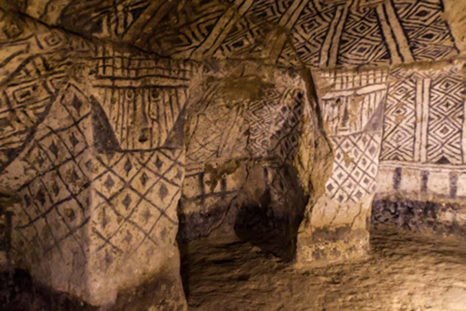 Decoration of an ancient tomb in Tierradentro Source: Matyas Rehak / Adobe Stock