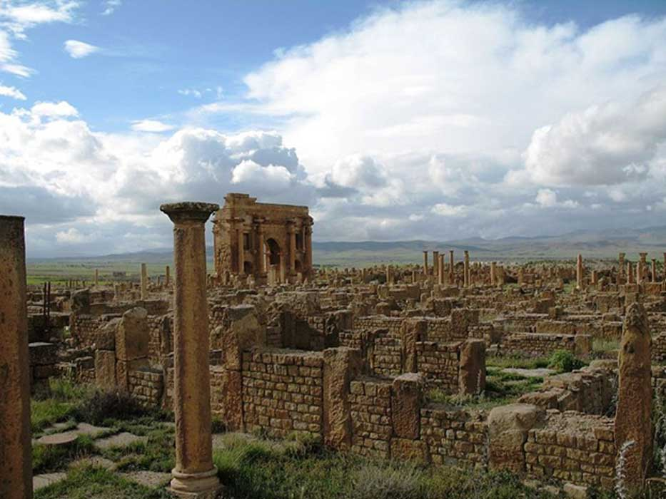 The ruins of Timgad.