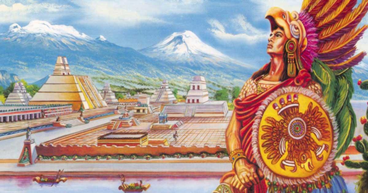 Representation of Cuauhtémoc, the last tlatoani