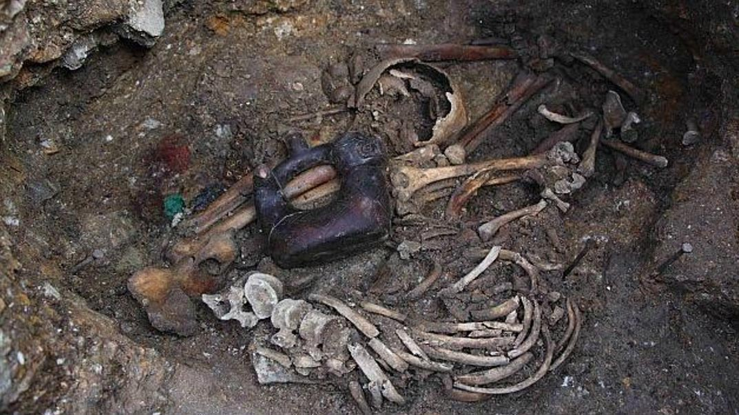 The double burial of the Serpent-Jaguar Priests, Pacopampa, Peru.