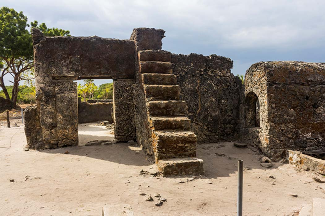 Old mosque of Kaole.