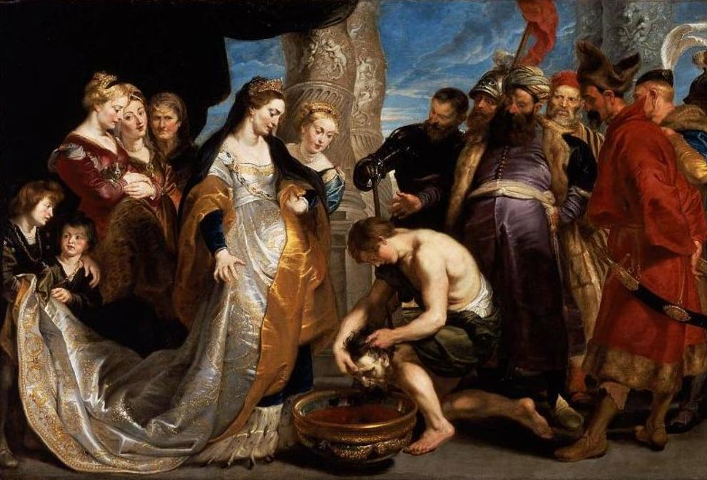 """Tomyris Plunges the Head of the Dead Cyrus Into a Vessel of Blood"""