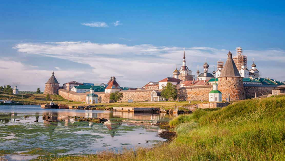 A photo of the Solovetsky Monastery