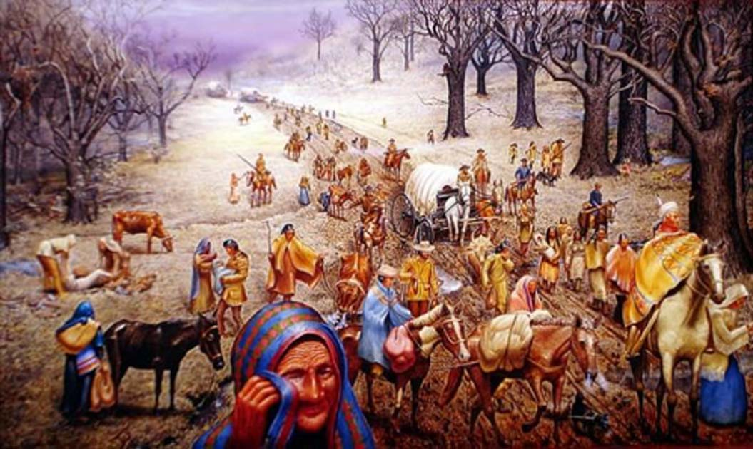 Max D Stanleys Painting The Trail Of Tears